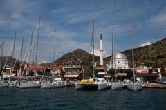 Regatta de la navegación de Marmaris a Fethiye, Turquía. Fotografía de archivo libre de regalías