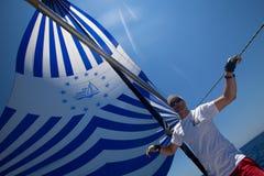 Regatta de la navegación de Marmaris a Fethiye, Turquía. Fotos de archivo