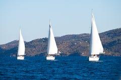 Regatta de la navegación en Grecia Imagenes de archivo