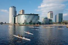Regatta del Rowing de la ciudad Fotos de archivo libres de regalías