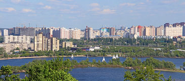 Regatta on the Dnipro in Kyiv, Ukraine Royalty Free Stock Photography
