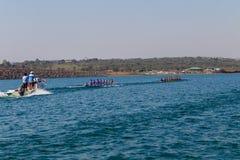 Regatta Eights Oct Rowing Referee Boat Royalty Free Stock Photos
