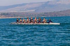 Regatta Eights Octs Boys Team Racing Royalty Free Stock Photography