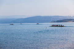 Regatta Eights Octs Rowing Teams Start Royalty Free Stock Image