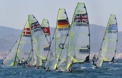 regatta för grupp 49erÂ's Arkivfoton