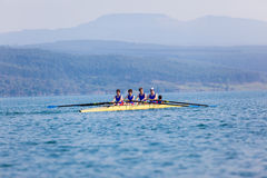 Regatta Fours Boys Team Waiting Start Stock Photography
