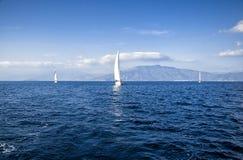 Regatta in het Middellandse-Zeegebied Royalty-vrije Stock Foto's