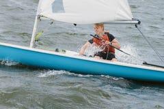 Regatta, het varen, zeiler Stock Foto's