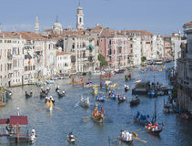 Regatta histórico de Veneza Imagens de Stock