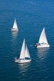 Regatta im Indischen Ozean Stockbild