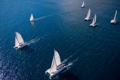 Regatta im Indischen Ozean Stockfoto
