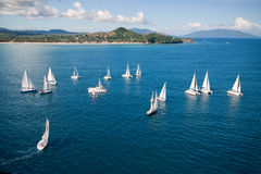 Regatta in indian ocean Royalty Free Stock Photo