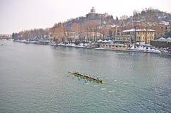 Regatta internacional del Rowing en Turín Foto de archivo libre de regalías