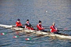 Regatta internacional del Rowing en Turín Fotos de archivo