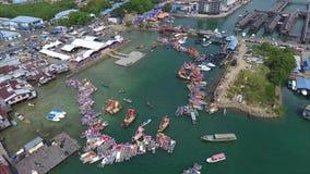 Regatta Lepa Semporna, Sabah stock video