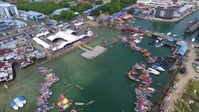 Regatta Lepa Semporna, Sabah stock footage