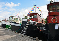 Regatta old motor ship Royalty Free Stock Photo