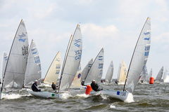 Regatta in Polen Stockbild