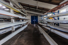 Regatta Rowing Canoes Royalty Free Stock Photography