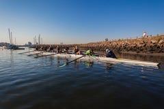 Regatta Rowing Girls Eights Morning Stock Photography