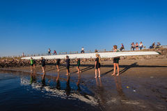 Regatta Canoe Girls Eights  Royalty Free Stock Photography