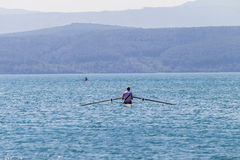 Regatta Rowing Race Teenager Endurance Royalty Free Stock Images
