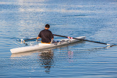 Regatta Rowing Singles Student Royalty Free Stock Image