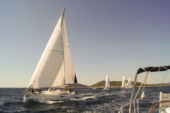 Regatta sailing comes Stock Photography