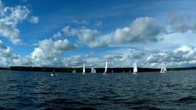 Regatta segling, konkurrens lager videofilmer