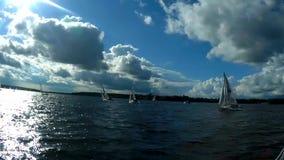 Regatta segling, konkurrens arkivfilmer