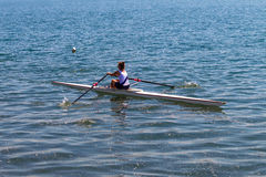 Regatta Skulls Rowing Race Girl  Royalty Free Stock Image