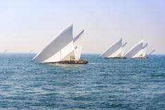 Regatta, sport rywalizacja, Palmowy Jumeirah, Dubaj Obraz Stock