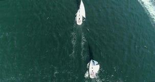 Regatta w morzu zbiory wideo