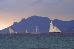 regattas бушуют вниз Стоковые Фото