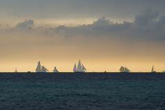 Regattas under  storm Stock Photos