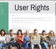 Regel-Politik-Regelungs-Konzept der Benutzer-Recht-allgemeinen Geschäftsbedingungen Stockbilder