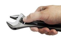 Regelbare moersleutel Stock Foto