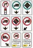 Regelgevende verkeersteken in Quebec - Canada Stock Foto