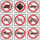 Regelgevende verkeersteken in Quebec - Canada Royalty-vrije Stock Foto