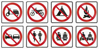Regelgevende verkeersteken in Quebec - Canada Royalty-vrije Stock Afbeelding