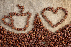 Regeling met de koffie Stock Afbeelding