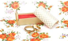 Regeling met trouwringen Royalty-vrije Stock Fotografie