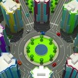 Regeling van de stedelijke episode met hetzelfde type van de bouw van typische high-rise gebouwen 3D Illustratie Royalty-vrije Stock Foto