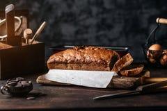 Regeling van gesneden broodbrood stock afbeelding