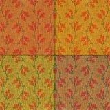 Regeling van katoenen vierkanten voor een het watteren project Stock Foto