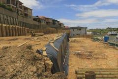 Regeling van landpercelen voor bouw van privé huizen in Nieuw Zeeland Stock Foto's