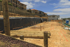Regeling van landpercelen voor bouw van privé huizen in Nieuw Zeeland Stock Fotografie