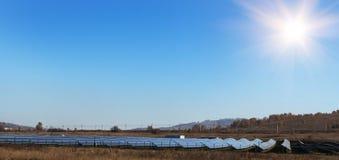 Regeling van zonne-energieproductie-installatie royalty-vrije stock afbeeldingen