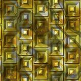 Regelmäßiger abstrakter Hintergrundpatchwork-Gelbton Stockbilder