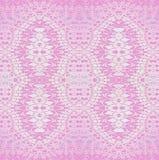 Regelmäßiges nahtloses aufwändiges dekoratives Musterrosa und violett, glänzend und empfindlich stock abbildung